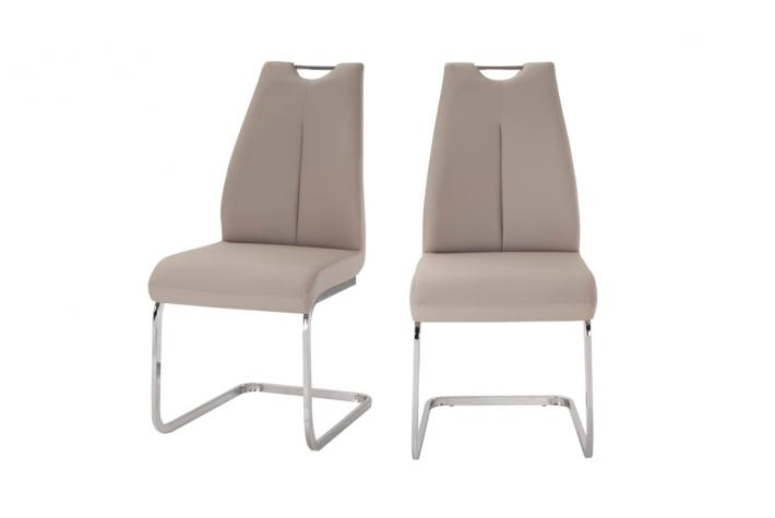 Lot de 2 chaises LAYA Beige