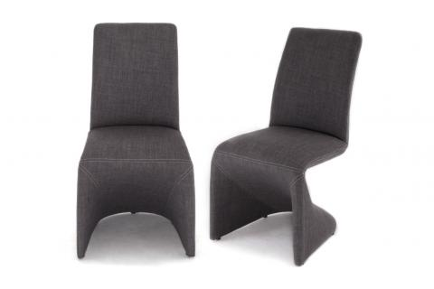 Lot de 2 chaises APHRODITE Gris