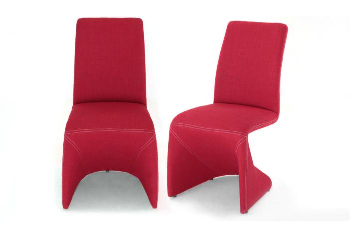 Lot de 2 chaises APHRODITE Rouge