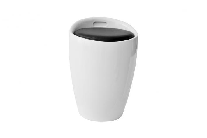 pouf coffre de rangement mambo blanc design pas cher sur sofactory. Black Bedroom Furniture Sets. Home Design Ideas
