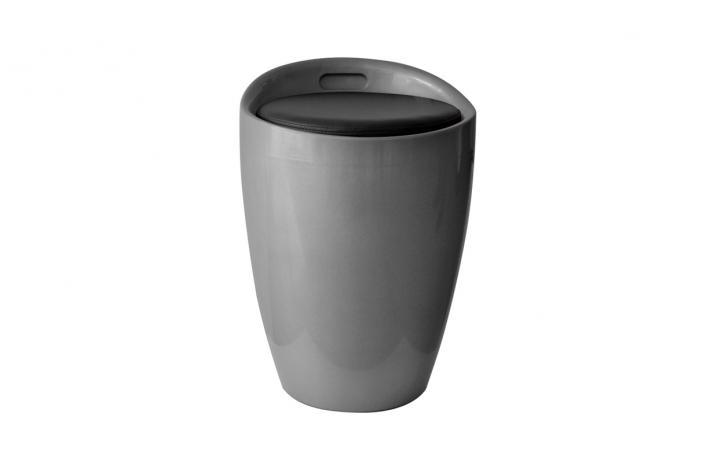 pouf coffre de rangement mambo argent design pas cher sur sofactory. Black Bedroom Furniture Sets. Home Design Ideas