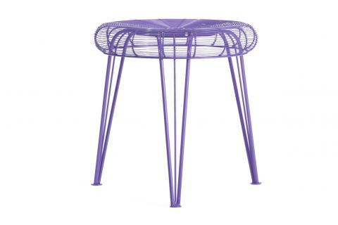 tabouret ventilo violet design pas cher sur sofactory. Black Bedroom Furniture Sets. Home Design Ideas