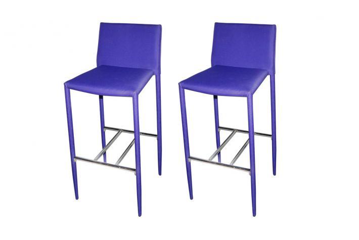 Lot de 2 tabourets de bar biboo violet design pas cher sur sofactory - Tabouret de bar violet ...