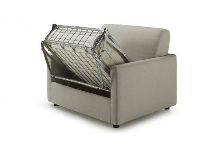 Fauteuil convertible tissu frederica design sur sofactory - Fauteuil convertible lit 1 place ikea ...