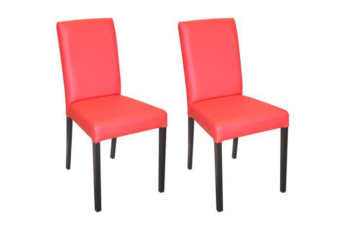 Lot de 2 chaises galina rouge design en direct de l 39 usine sur sofactory for Chaise factory rouge