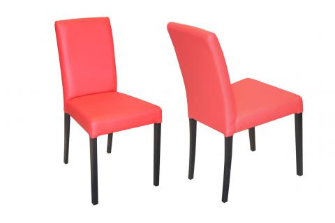Lot de 2 chaises GALINA Rouge SoFactory