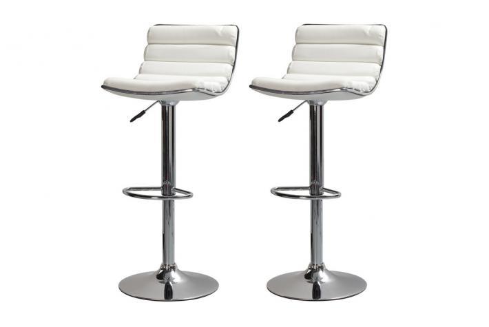 Lot de 2 tabourets de bar huba blanc design pas cher sur sofactory - Lot de tabouret de bar pas cher ...
