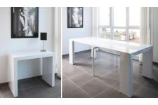 Console extensible blanche 250cm laque MARLENE