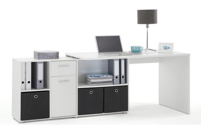 Bureau dangle réversible ROB Blanc design en direct de l