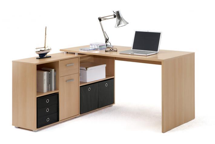 Bureau d 39 angle r versible rob h tre design sur sofactory - Bureau d angle avec tiroir ...