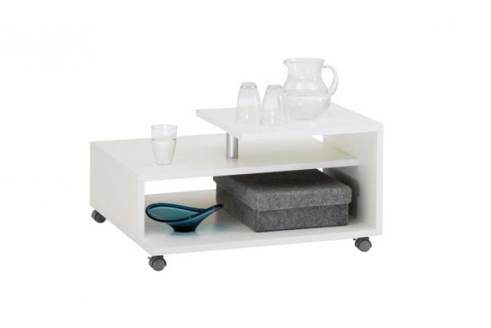 table basse sur roulettes kristel blanc design en direct de l