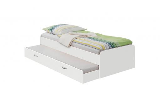 lit gigogne 90 x 200 hector blanc design sur sofactory. Black Bedroom Furniture Sets. Home Design Ideas