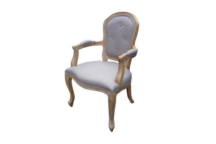 fauteuil baroque montesquieu ecru design sur sofactory. Black Bedroom Furniture Sets. Home Design Ideas