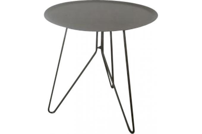 Bout de canapé rond d intérieur et d extérieur gris VINCE design