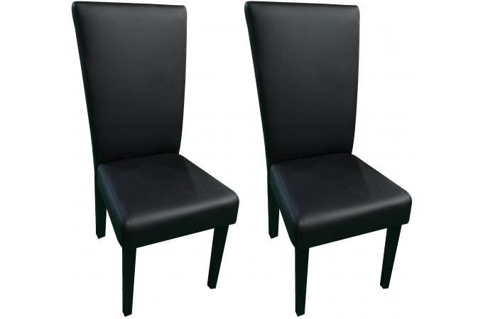 lot de 2 chaises noires rivoli design sur sofactory. Black Bedroom Furniture Sets. Home Design Ideas