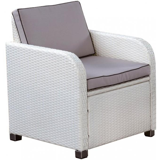 Fauteuil de jardin blanc along design pas cher sur sofactory - Fauteuil jardin blanc ...