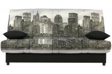 Banquette Clic-Clac 130x190 Building Matelas Mousse Sofaflex 11cm KALIDEO