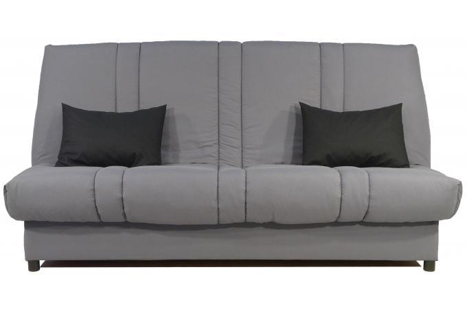 banquette clic clac 130x190 grise matelas mousse sofaflex 11cm kalideo design. Black Bedroom Furniture Sets. Home Design Ideas