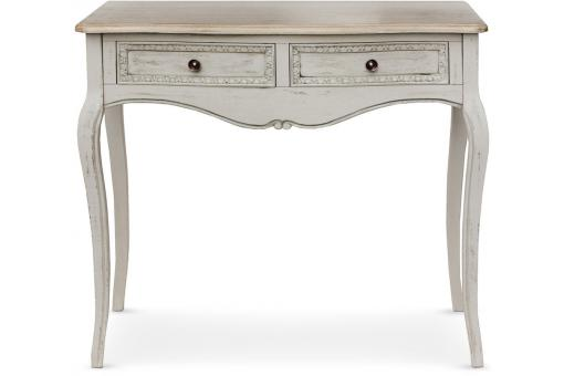 Console 2 tiroirs Gris TED
