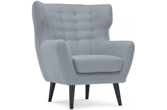 fauteuil scandinave tissu gris montana design pas cher sur sofactory. Black Bedroom Furniture Sets. Home Design Ideas