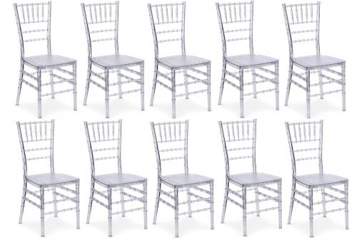 Lot de 10 chaises Transparent ROSA SoFactory