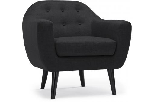 fauteuil scandinave tissu gris noir antonio design sur. Black Bedroom Furniture Sets. Home Design Ideas