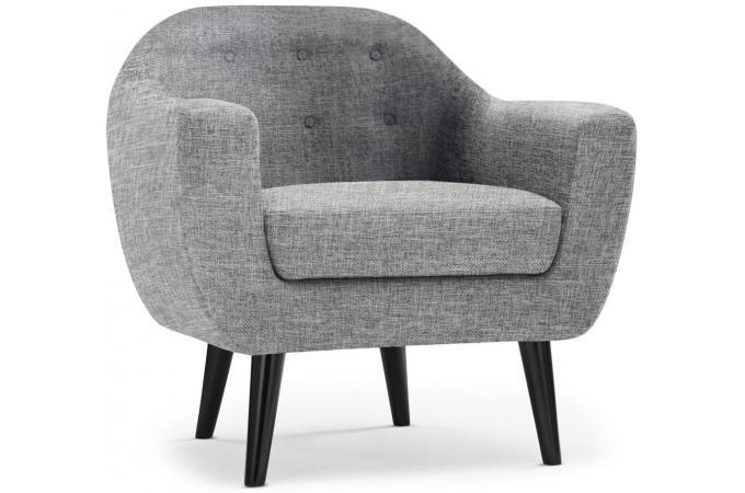 Fauteuil Scandinave Tissu Gris Clair ANTONIO Design Sur SoFactory - Fauteuil gris design
