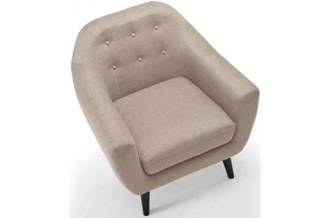 fauteuil scandinave tissu beige antonio design sur sofactory. Black Bedroom Furniture Sets. Home Design Ideas
