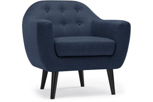 fauteuil scandinave tissu bleu antonio design sur sofactory. Black Bedroom Furniture Sets. Home Design Ideas