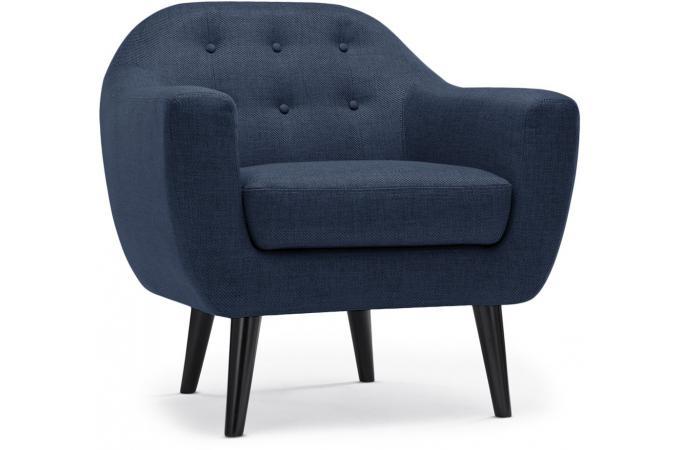 fauteuil scandinave tissu bleu antonio design sur sofactory. Black Bedroom Furniture Sets. Home Design Ideas