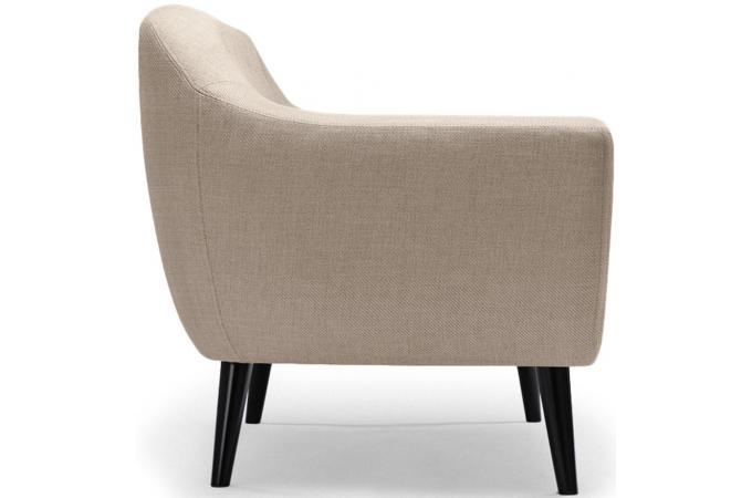 canap scandinave 2 places tissu beige antonio design sur. Black Bedroom Furniture Sets. Home Design Ideas