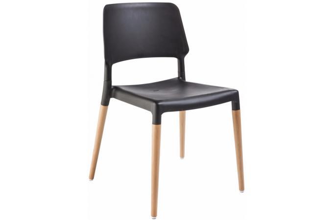 Lot de 4 chaises design noires tilde design en direct de l - Lot de 4 chaises noires ...
