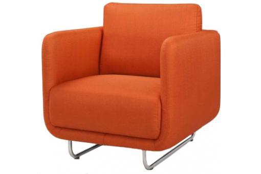 fauteuil design orange pieds metal bross djoon design sur. Black Bedroom Furniture Sets. Home Design Ideas