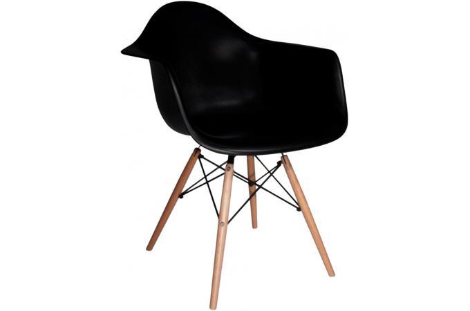 chaise d co scandinave avec accoudoir noire iceland design. Black Bedroom Furniture Sets. Home Design Ideas