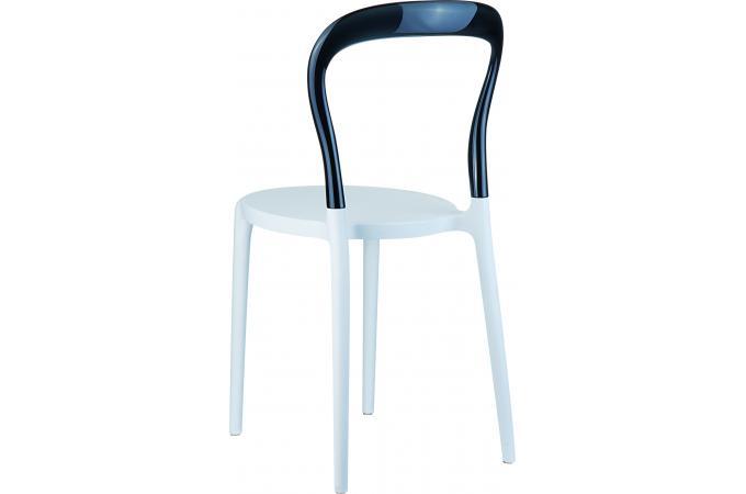 Chaise design noire et blanche MISTER design sur SoFactory