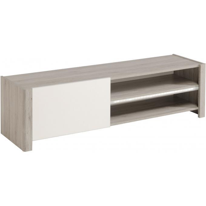 meuble tv contemporain coloris ch ne gris lydie design sur sofactory. Black Bedroom Furniture Sets. Home Design Ideas