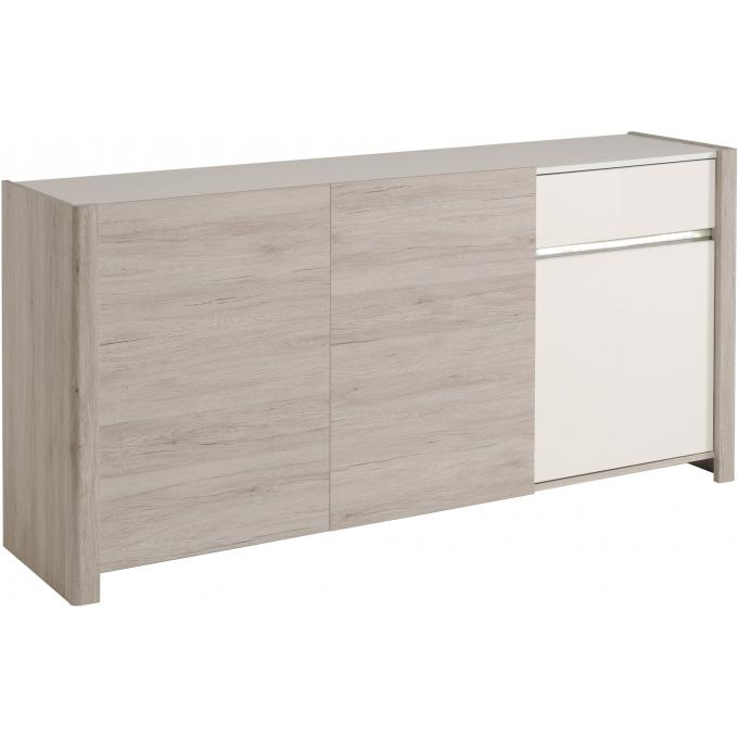 buffet contemporain coloris ch ne gris lydie design sur. Black Bedroom Furniture Sets. Home Design Ideas