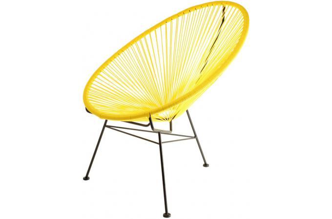 Fauteuil Zimaculto Jaune Design Sur SoFactory - Fauteuil jaune solde