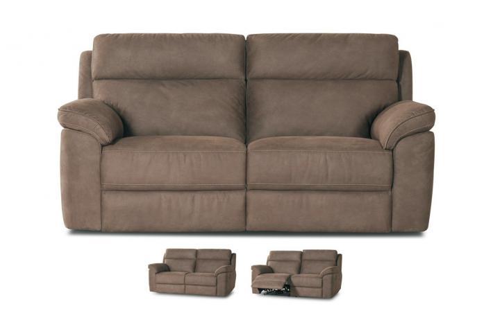 canap relaxation lectrique en microfibre 3 places virginia design pas cher sur sofactory. Black Bedroom Furniture Sets. Home Design Ideas