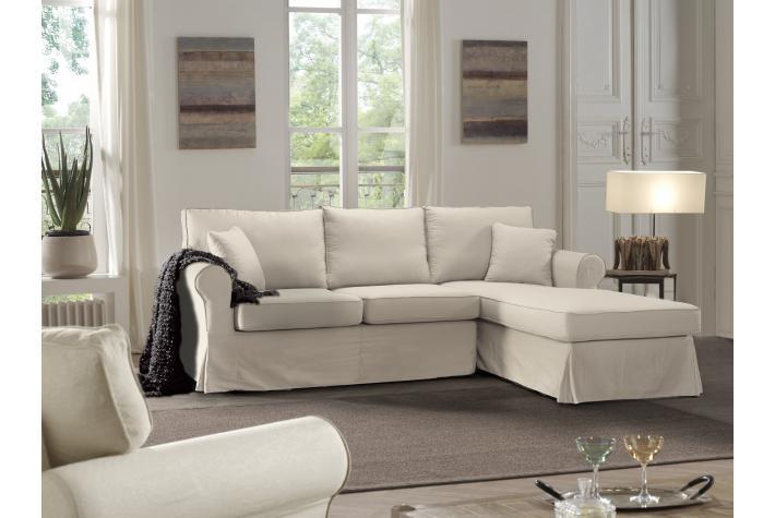 Canap d 39 angle en coton andora design sur sofactory for Canape romantique