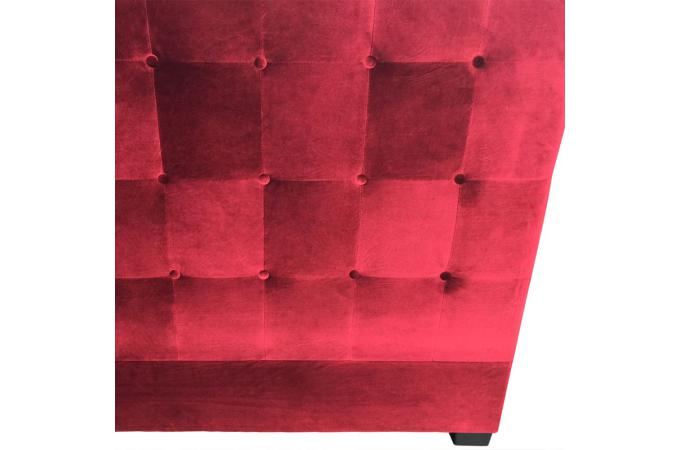 t te de lit capitonn e en velours 180 cm coloris rouge ambrosia design sur sofactory. Black Bedroom Furniture Sets. Home Design Ideas