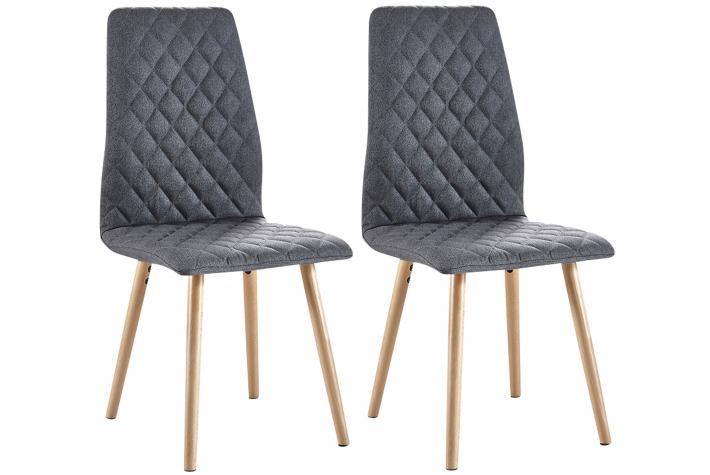 lot de 2 chaises tissu matelassé retro design pas cher sur sofactory - Chaise Retro Pas Cher