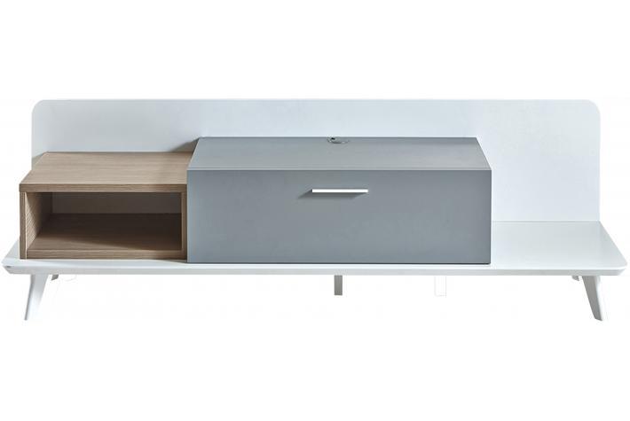 Meuble tv avec 1 tiroir et 1 niche enzo design pas cher sur sofactory - Meuble tv avec tiroir ...