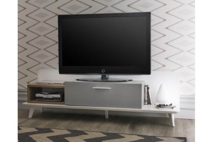 Meuble tv avec 1 tiroir et 1 niche enzo design pas cher - Meuble tv avec niche ...