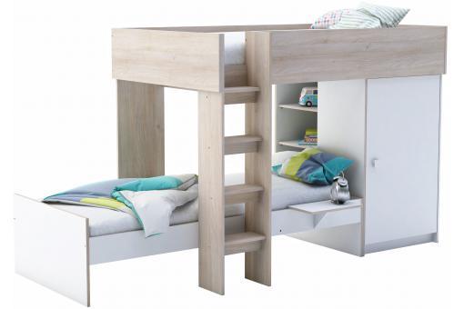lits superpos s 90 x 200 avec placard integr eva design. Black Bedroom Furniture Sets. Home Design Ideas