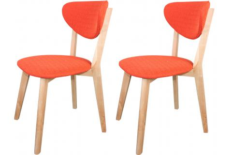 Lot de 2 chaises scandinaves oranges STOL