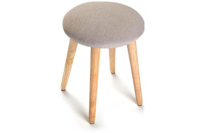 tabouret scandinave rond cr me pastel design sur sofactory. Black Bedroom Furniture Sets. Home Design Ideas