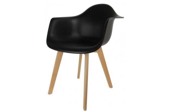 chaise scandinave avec accoudoir noir vjakar design sur. Black Bedroom Furniture Sets. Home Design Ideas
