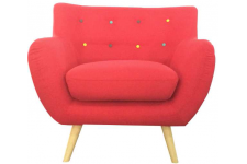 Sofactory - ALICIA - Fauteuil rouge