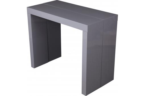 console extensible grise 180cm laque marie line design sur. Black Bedroom Furniture Sets. Home Design Ideas